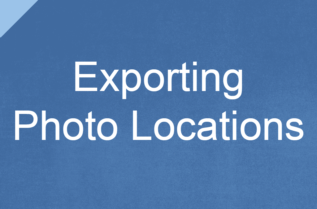Exporting Photo Locations