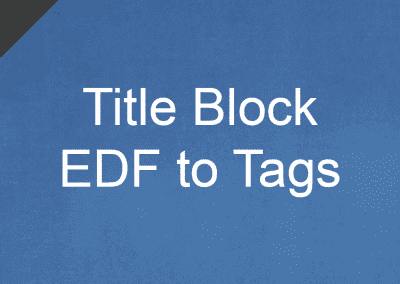 Title Block EDF to Tags